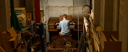Thomas LeClair and the Webster pipe organ