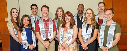 Top Ten Seniors group photo.