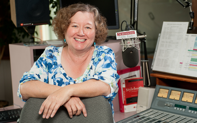 Robin Rilette, host of NWPR's Classic Music with Robin Rilette