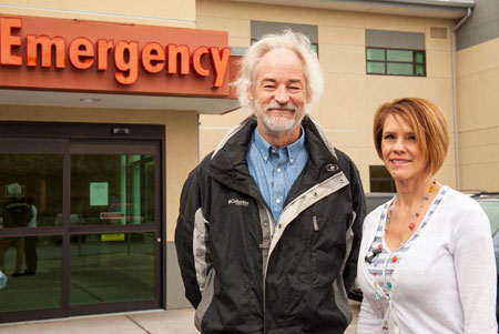 Bruce Wright and Stacey Aggabao at Pullman Regional Hospital