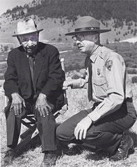 Nez Perce with ranger