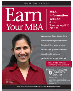 Learn How To Earn Your Mba At Wsu Tri Cities Event Wsu