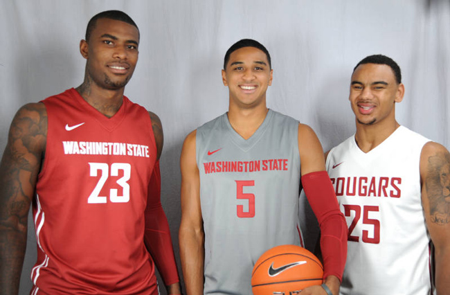 WSU men's basketball uniform from front