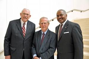 (L-R) V. Lane Rawlins, Samuel H. Smith, Elson S. Floyd