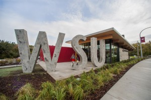 Brelsford WSU Visitor Center. Photo by Shelly Hanks, WSU Photo Services