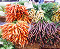 Colorful-carrots-at-farmers-market-by-Michael-Porter-CC-120