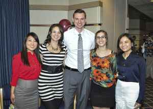 Cardinal Health Scholarship recipients Cassandra Song, Bridget Mummey, Mark Goff, Sekinah Samadi, and May Myngoc Chung Son