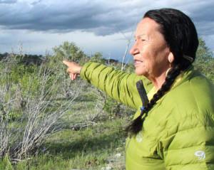 Betty Cooper, near Birch Creek, Blackfeet Reservation. Photo by Lailani Upham.