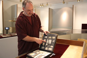 Mark O'English with Wheeler Scrapbook