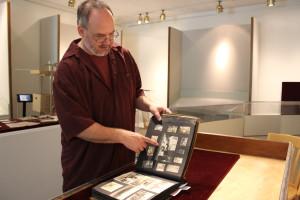 Mark O'English with Wheeler Scrapbook
