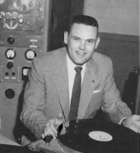 Jackson at radio station KUGR, circa 1954.