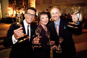 David-Ono,-Patti-Hirahara-and-Jeff-MacIntyre-at-2014-Emmys-550