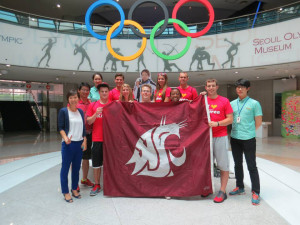 WSU COE students studying in Seoul last year.