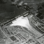 Aerial view of the dam.