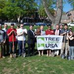 ASWSU volunteers planting trees at Ruby Street Park.