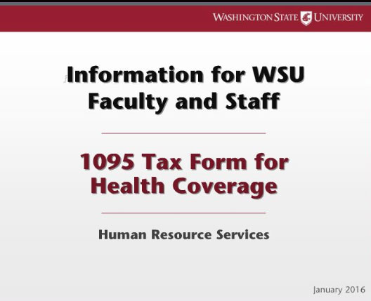 Employees Will Receive New Health Insurance Tax Forms Wsu