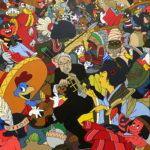 Roger Shimomura, American vs. Disney Stereotype, 2010