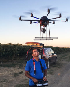 Khot with vineyard drone.