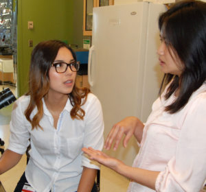 Marleny Garcia, left, with faculty mentor Joy Winuthaynon.