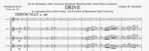 Drive score