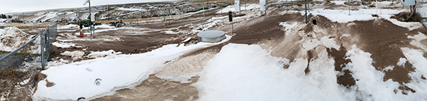 Snow drifts at Lind weather station