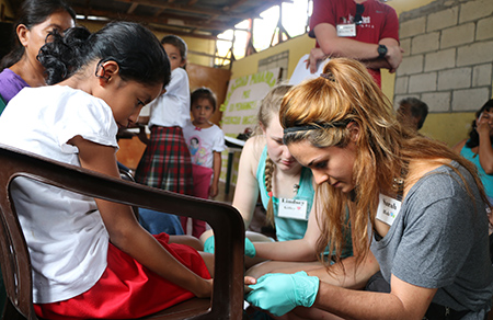 wsu students test iron blood levels in Guatemala