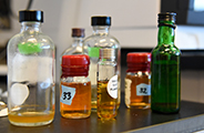 distilled spirits analysis bottles