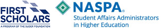first scholar and naspa logos