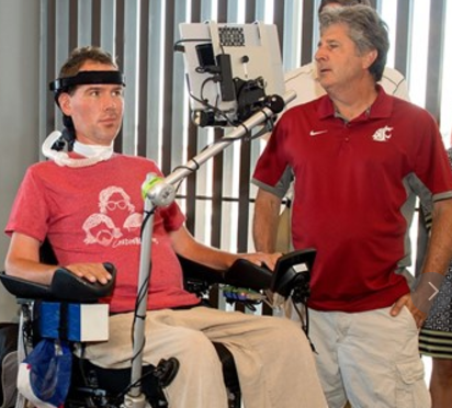 steve gleason and wsu football coach mike leach