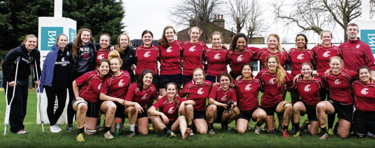 WSU rugby team in London