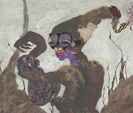 Print by Wangechi Mutu, titled 'Second Born'