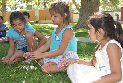 ALAS_WSU_Tri-Cities_camp activities included learning about building engineering using using pasta as a base material. See photos below.