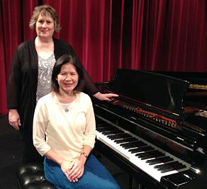 Julie Wieck, soprano and associate professor of muic, and Karen Savage, piano, associate professor of music