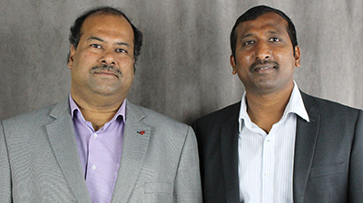 Partha Pande and Jana Doppa (l-r), professors in the School of Electrical Engineering and Computer Science, are working with professors from Carnegie Mellon to design datacenter-on-chip technology