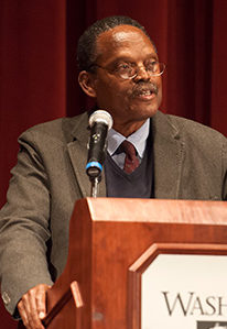 William Julius Wilson spoke to WSU audiences in 2009 at the symposium named in his honor.