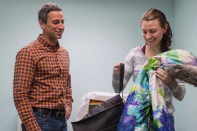 Jenna Caneva and her faculty mentor Sammy Perone