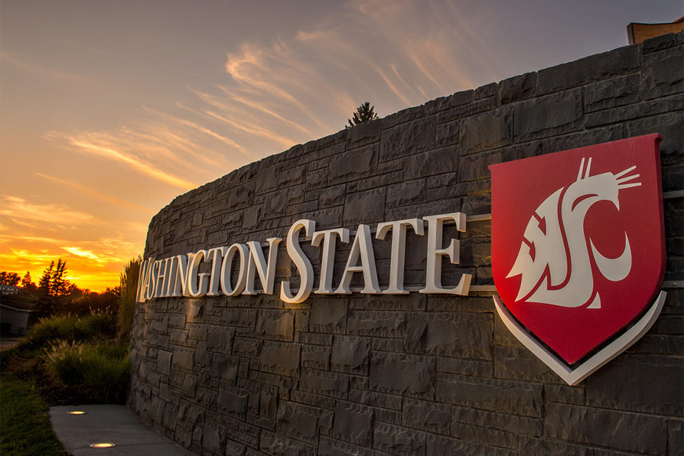 Entrance to Washington State University's Pullman campus.