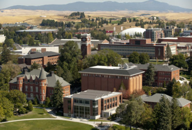 Aerial image of the WSU Pullman campus.