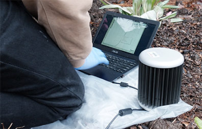 Laptop and portable soil testing device