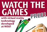Poster to view the Olympic games via virtual reality at WSU