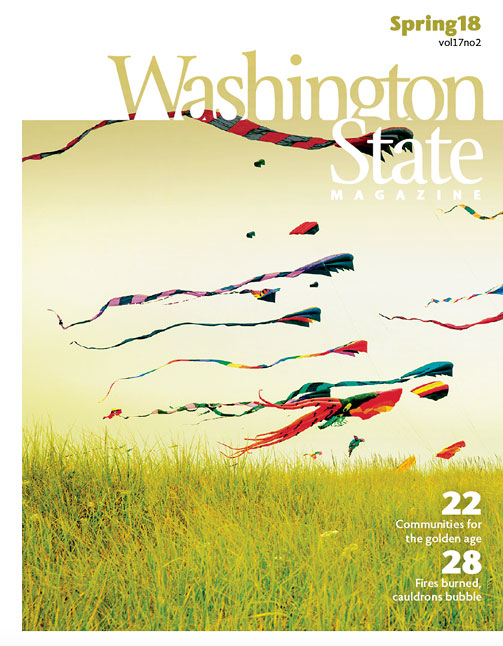 Image of the cover of Washington State Magazine's Spring 2018 issue