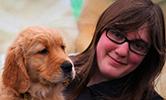 Amanda Amore and puppy