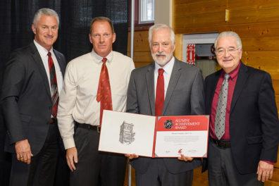 Alumni Award presented to Lumpkin at dinner