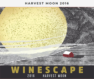 Label for Winescape's 2016 Harvest Moon wine