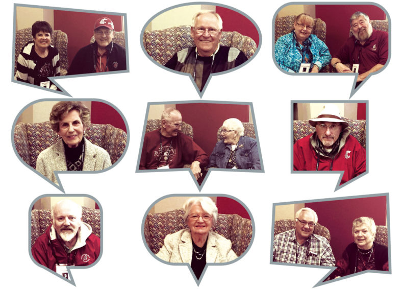 Images of alumni sharing their oral histories of WSU