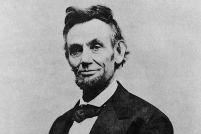 Abraham Lincoln, photo by Alexander Gardner from Lincoln's last formal sitting. Courtesy of Wikimedia Commons.