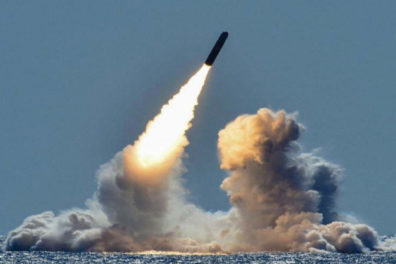 image of nuclear missile in flight