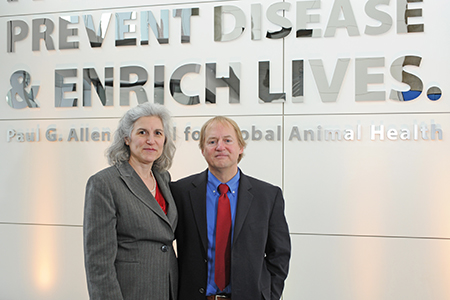 Drs. Beth Fritzler and Tim Kraabel, co-owners of the Lien Animal Clinic in West Seattle, teamed with the WSU Paul G. Allen School for Global Animal Health and other veterinary clinics across the country to help end human rabies deaths by 2030.
