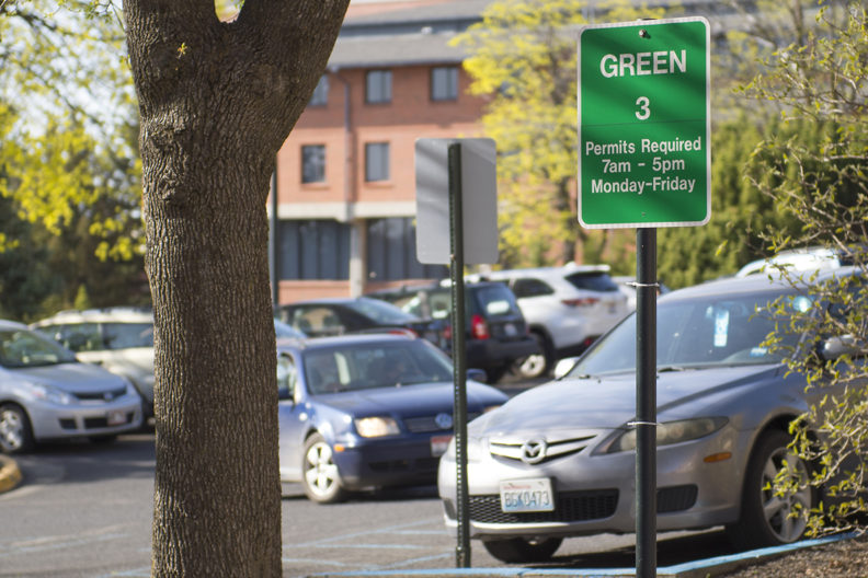 WSU Pullman parking permit renewal process begins May 1. There are no rate increases this year. Photo by Shelly Hanks, WSU Photo Services.