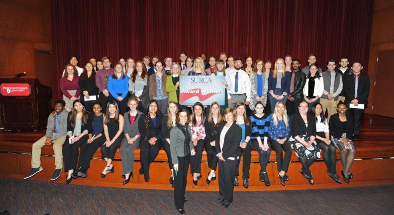 WSU SURCA winners taking a group photo